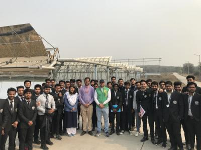 SGTU organized an industrial visit to National Institute of Solar Energy NISE
